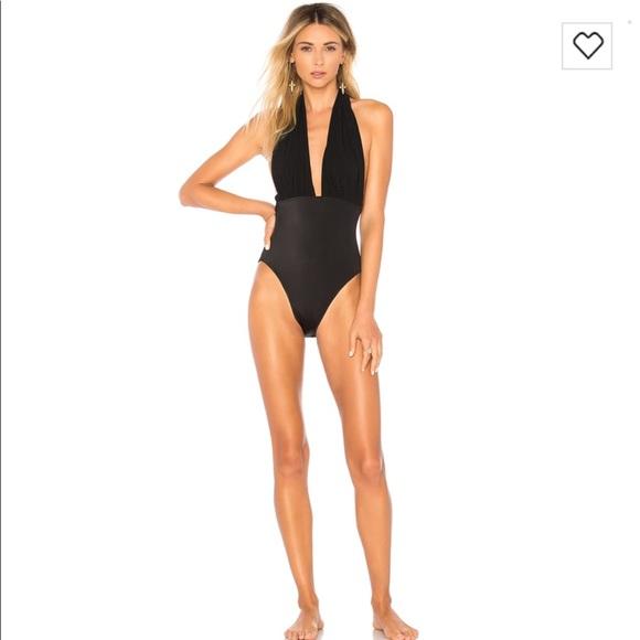 a80c17668e Norma Kamali One Piece Halter Swimsuit NWT NWT